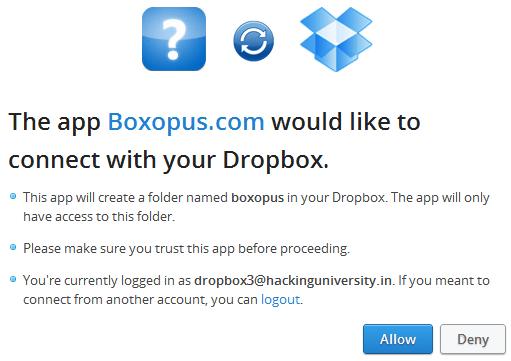 boxopus dropbox permission