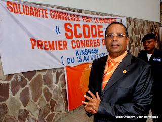 Jean Claude Muyambo, président de Scode. Radio Okapi/ Ph. John Bompengo