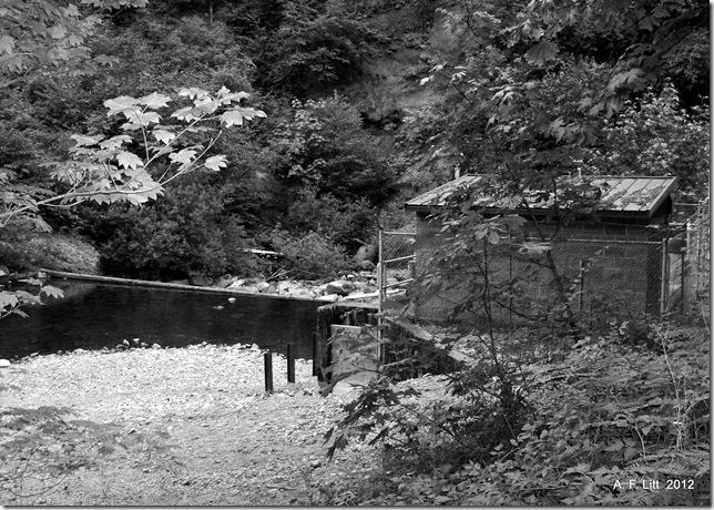 Waterworks on Eagle Creek.  Columbia River Gorge, Oregon.  September 14, 2008.