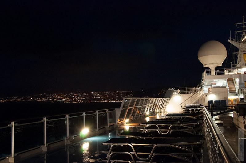 Огни Тенерифе, по ходу корабля.
