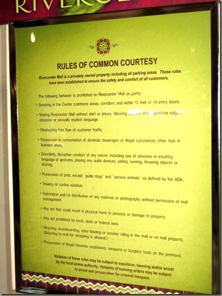 Rules of Common Courtesy