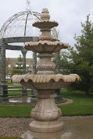 Large Classical 3-Tier Fountain, D72in Giallo Fantasia