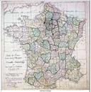 mapa Estat francés pendent la revolucion de 1792