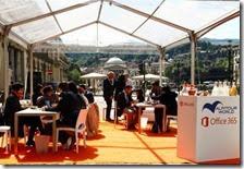 L'ufficio allestito a piazza Vittorio da Alpitour