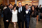 Lazaro; me; Joseph Murphy, president of JLM Couture; Randy Fenoli of Kleinfeld; and Francesca Pitera.