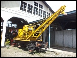 Indonesia, Ambarawa Railway Museum, Manual Crane, Haarl, N-725, 1906, 6000 kg at 4 metres, 11 January 2011 (1)