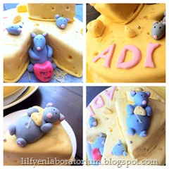 mouse cheesecake fondant