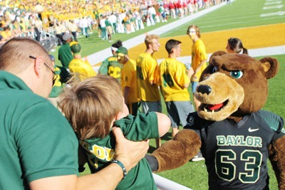 Nash's 1st day of School & Baylor Game 050