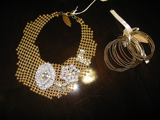Necklace from J.Crew and bangles from Amarita Singh.