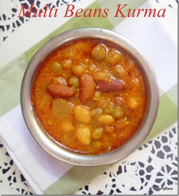 Multi Beans Kurma Reipe Rajma Kurma Recipe