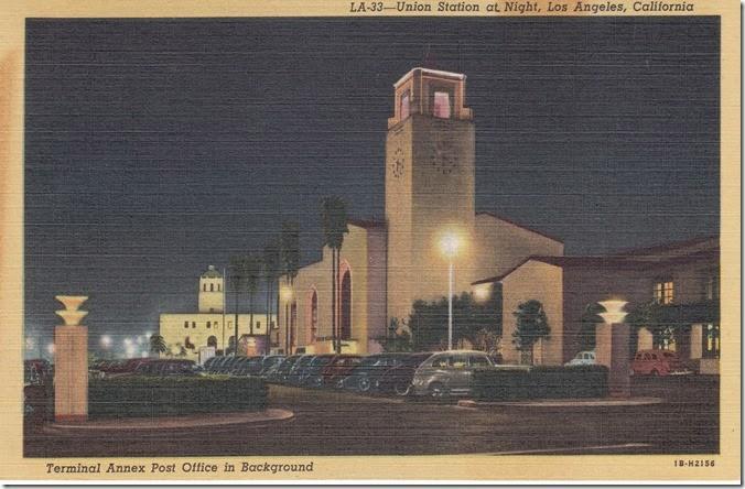 Union Station at Night, Los Angeles, California Pg. 1