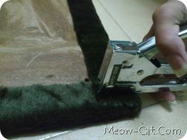 how to building cat tree - Fabric cut and wrapped 5