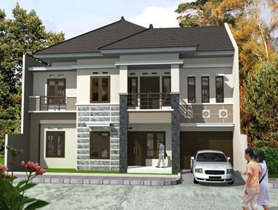desain 3d rumah tinggal