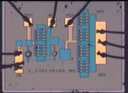 Photograph of the dual-mode PA MMIC