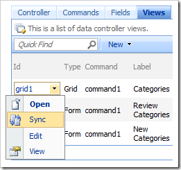 Sync context menu option for views in the Project Browser.