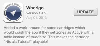 Wherigo verion 1.4.2