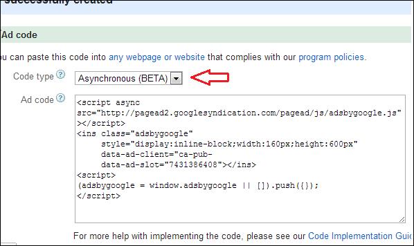 adsense-asynchronous-code