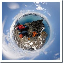 On the summit of Stenhouse Peak