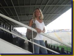 Barbara Petrillo allo Stadio Tardini foto stadiotardini com