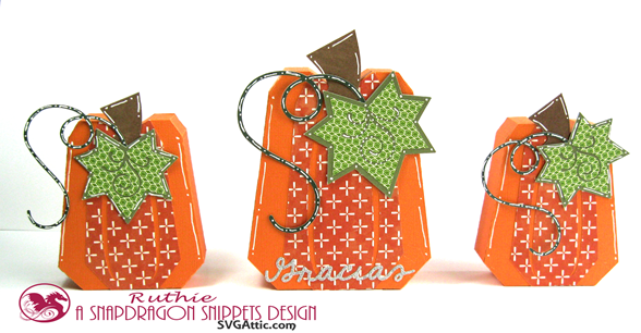 Pumpkin box - SnapDragron Snippets - Ruthie Lopez - Thanksgiving table decoration