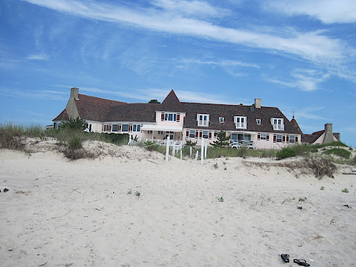 The house we rented. And the sand we hiked through. A much different walk than we city folk are used to!