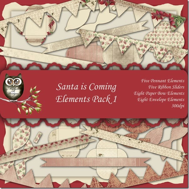 Santa is Coming Elements Front Sheet Pack 1