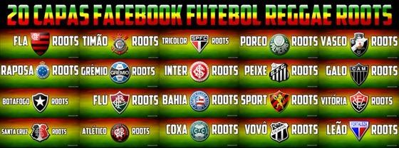 capa para facebook Futebol Times reggae roots
