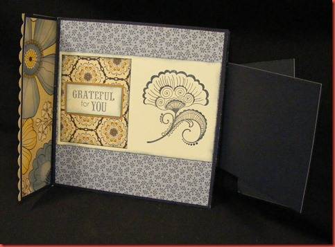 Pemberley 6x6 card inside front flap