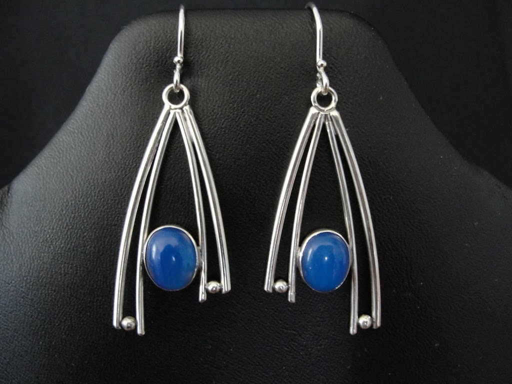 Blue Agate Modified Wishbone....Sold