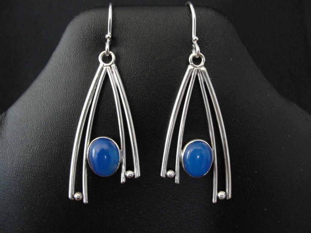 Blue Agate Modified Wishbone....Sold