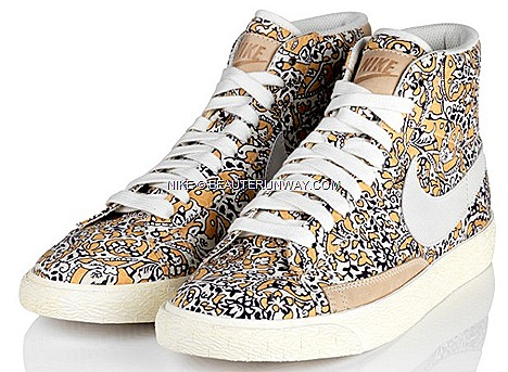 Liberty London X NIKE Blazer Dunk Sky High Wedge Heel shoe Hyperclave Free 5.0 Nike Cortez, NIKE Air Max 1 sportswear shoes