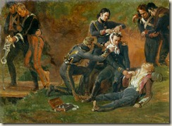 "Louis Lejeune ""Baron Jean Dominique Larrey (1766-1843) Tending the Wounded at the Battle of Moscow"""