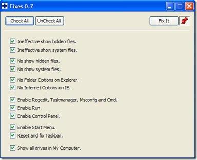 Windows Medkit strumento di riparazione problematiche causate dai virus