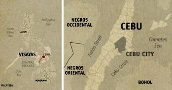 Cebu City Location Map