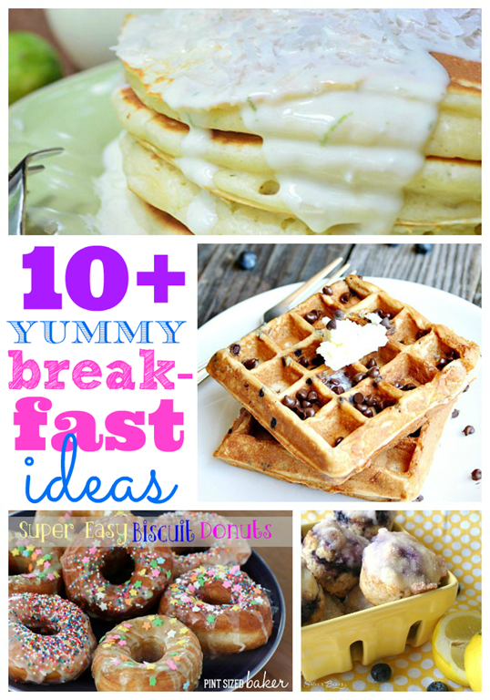 Over ten yummy breakfast ideas at #gingersnapcrafts #linkparty #feature #recipe