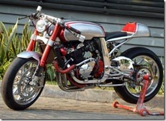 Suzuki GSX 400 Modern Cafe Racer Chrome