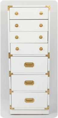 white lacquer campaign dresser