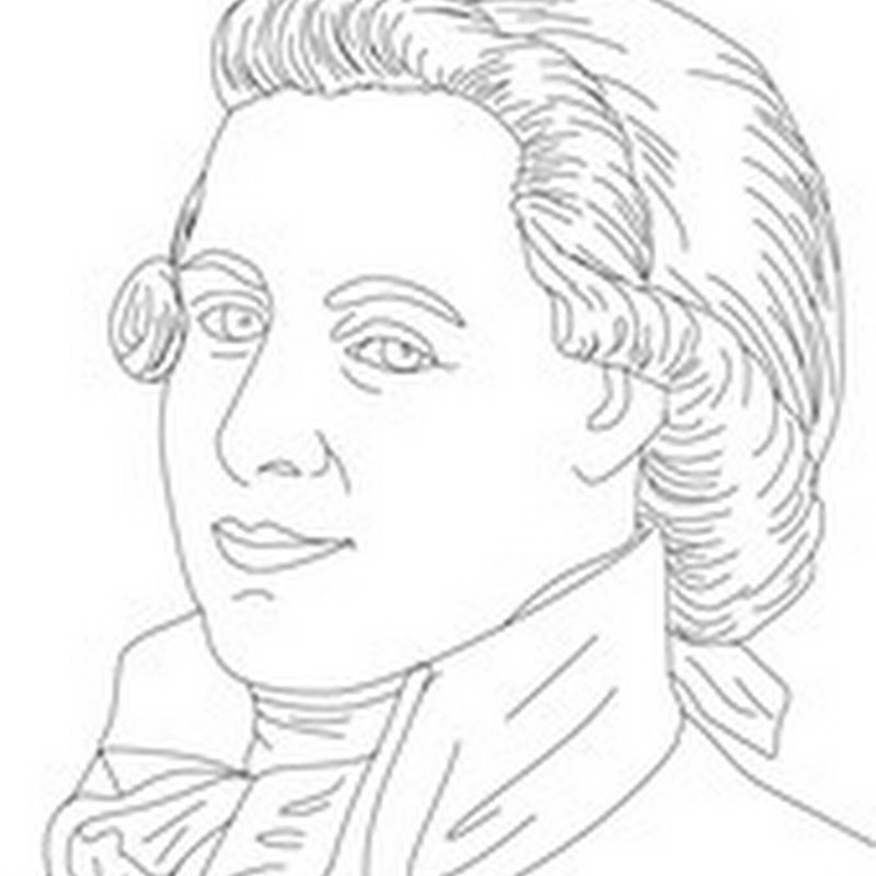 Colorear dibujo de Mozart