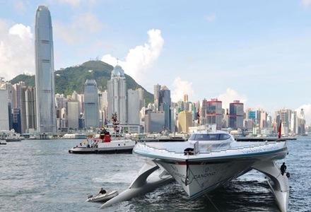 hong-kong-barco-con-energía-solar