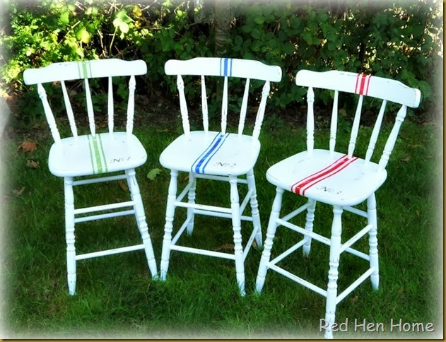 Red Hen Home Grain Sack Bar Stools 1
