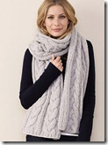 Cable Cashmere Blend Scarf