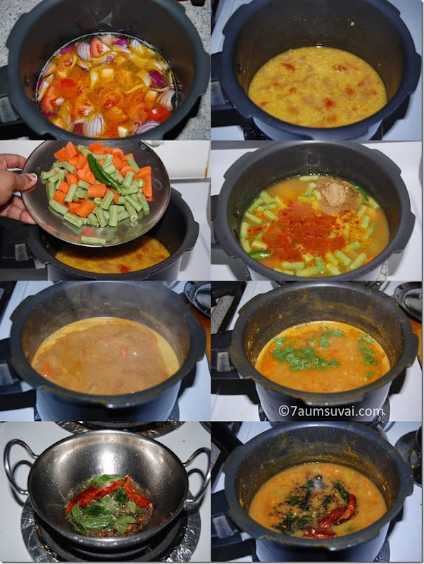 Tiffin sambar process