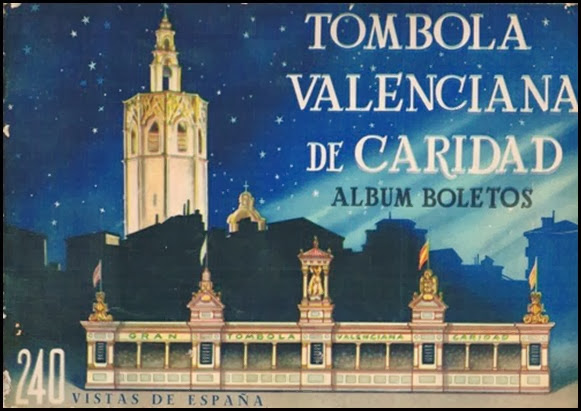 Porta álbum Tombola Valenciana de Caridad. 1957
