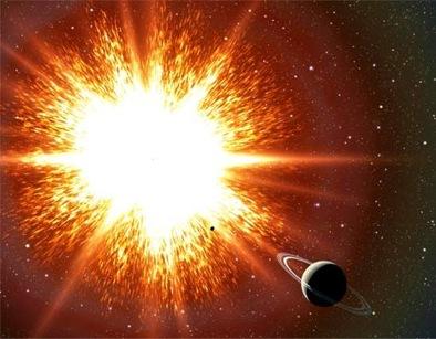 ilustração de uma bomba relógio cósmica