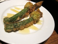 Courgette Flowers with Monte Enebro and Honey