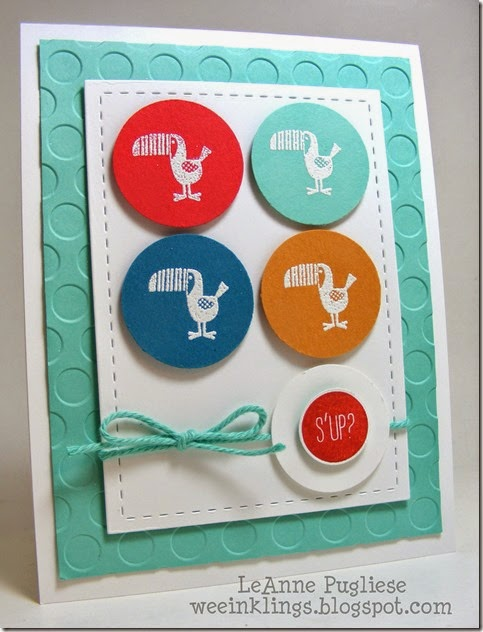 LeAnne Pugliese WeeInklings ColourQ249 Zoo Babies Stampin Up Hi There
