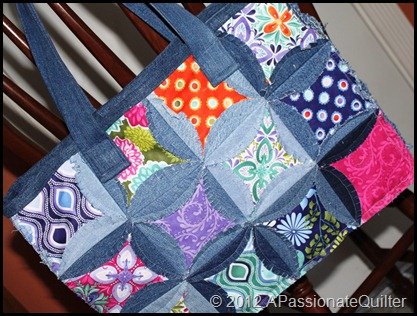 A Passionate Quilter: The Finished Denim Circle Rag BAG! : denim circle rag quilt - Adamdwight.com