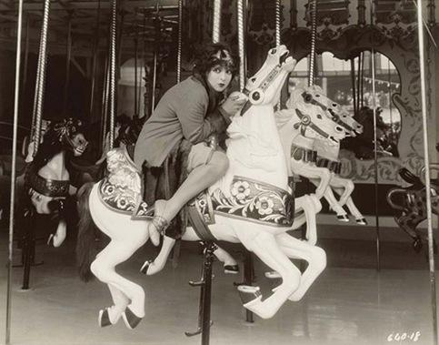 clara on carousel