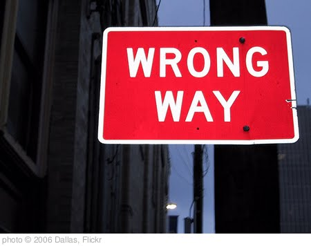 'Wrong Way' photo (c) 2006, Dallas - license: http://creativecommons.org/licenses/by/2.0/