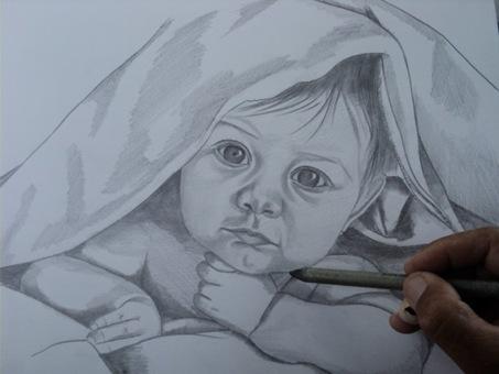 desenho de crianças a lápis 7